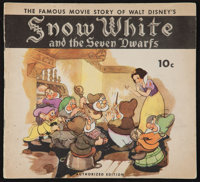 "Snow White and the Seven Dwarfs (K.K. Publications, 1938). Movie Story Book (16 Pages, 9"" X 10""). Animation..."