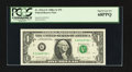 Error Notes:Mismatched Serial Numbers, Fr. 1916-G* $1 1988A Federal Reserve Star Note. PCGS Superb Gem New68PPQ.. ...