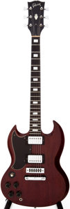 Musical Instruments:Electric Guitars, 1973 Gibson SG Standard Left-Handed Cherry Solid Body ElectricGuitar, Serial # 120020....