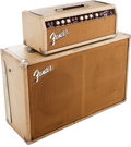 Musical Instruments:Amplifiers, PA, & Effects, 1963 Fender Bassman White Guitar Amplifier Head and Cabinet, Serial# BP06921. ...