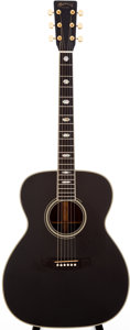 Musical Instruments:Acoustic Guitars, 1992 Martin J-40 Black Acoustic Guitar, Serial # 512491....