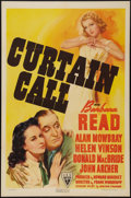 """Movie Posters:Comedy, Curtain Call (RKO, 1940). One Sheet (27"""" X 41""""). Comedy.. ..."""