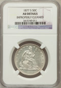 Seated Half Dollars: , 1877-S 50C -- Improperly Cleaned -- NGC Details. AU. NGC Census:(5/385). PCGS Population (18/384). Mintage: 5,356,000. Num...