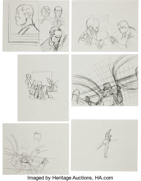 Original Comic ArtSketches Chris Sprouse Global Frequency Preliminary Sketch OriginalArt Group Wildstorm