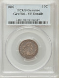 Early Dimes, 1807 10C -- Graffiti -- PCGS Genuine. VF Details. NGC Census:(3/183). PCGS Population (15/240). Mintage: 165,000. Numismed...