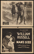 "Movie Posters:Drama, A Man's Size (William Fox, 1923). Title Lobby Card & Lobby Card (11"" X 14""). Drama.. ... (Total: 2 Items)"