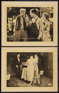 "Mile-a-Minute Kendall (Paramount, 1918). Lobby Cards (2) (11"" X 14""). Drama. ... (Total: 2 Items)"