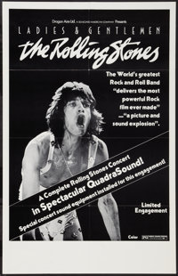 """Ladies and Gentlemen: The Rolling Stones (Dragon Aire, 1973). One Sheet (24"""" X 38""""). Rock and Roll"""