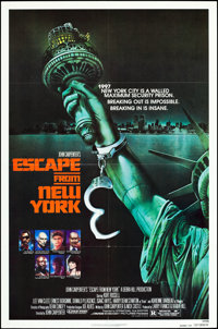 "Escape from New York (Avco Embassy, 1981). One Sheet (27"" X 41"") Advance. Science Fiction"