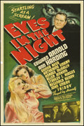 "Movie Posters:Mystery, Eyes in the Night (MGM, 1942). One Sheet (27"" X 41""). Mystery.. ..."