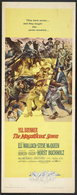 """The Magnificent Seven (United Artists, 1960). Insert (14"""" X 36""""). Western"""