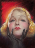 Pulp, Pulp-like, Digests, and Paperback Art, CHARLES GATES SHELDON (American, 1889-1960). Constance Bennett,Screenland magazine cover, October 1932. Pastel on board...