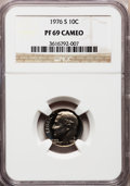 Proof Roosevelt Dimes: , 1976-S 10C PR69 Cameo NGC. NGC Census: (94/0). PCGS Population(73/1). Numismedia Wsl. Price for problem free NGC/PCGS coi...