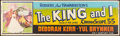 "Movie Posters:Musical, The King and I (20th Century Fox, 1956). Banner (24"" X 82"").Musical.. ..."