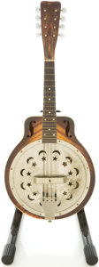Musical Instruments:Banjos, Mandolins, & Ukes, Circa 1930's Regal Dobro Sunburst Resonator Mandolin....