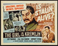 "Movie Posters:Exploitation, The Girl in the Kremlin (Universal International, 1957). Title Lobby Card (11"" X 14""). Exploitation.. ..."
