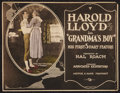 """Movie Posters:Comedy, Grandma's Boy (Associated Exhibitors, 1922). Trimmed Title Lobby Card (10"""" X 13""""). Comedy.. ..."""