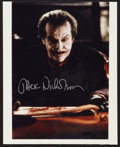 "Movie Posters:Action, Jack Nicholson in Batman (Warner Brothers, 1989). Autographed Photo(8"" X 10""). Action.. ..."
