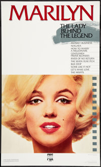 "Marilyn: The Lady and the Legend (CBS Fox, 1987). 25th Anniversary Commemorative Video Poster (22.5"" X 37.5"")..."