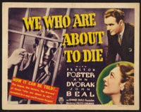 """We Who Are About to Die (RKO, 1937). Title Lobby Card (11"""" X 14""""). Crime"""