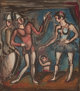 GEORGES ROUAULT (French, 1871-1958) La Parade (from Cirque), 1930 Color etching with aquatint 12-1/2 x 10-1/4 inches