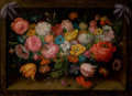 Fine Art - Painting, European:Modern  (1900 1949)  , DI STEFANO (Italian, 20th Century). Floral Still Life. Oil on canvas. 12-1/2 x 16-1/2 inches (31.8 x 41.9 cm). Signed lo...