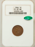 Proof Indian Cents: , 1906 1C PR65 Brown NGC. CAC. NGC Census: (16/2). PCGS Population(8/2). Mintage: 1,725. Numismedia Wsl. Price for problem f...