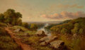 Fine Art - Painting, European:Other , BRITISH SCHOOL (19th Century). View in North Riding ofYorkshire. Oil on canvas. 30 x 50-1/4 inches (76.2 x 127.6 cm).S...