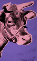 ANDY WARHOL (American, 1928-1987) Cow, circa 1976-77 Color screenprint Sight: 45 x 28 inches (114