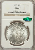 Morgan Dollars: , 1885 $1 MS66 NGC. CAC. NGC Census: (1703/192). PCGS Population (1292/75). Mintage: 17,787,768. Numismedia Wsl. Price for pr...