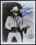 "Movie Posters:Western, The Lone Ranger Television Show (Colbert Television Sales, R-1970s). Autographed Photo (8"" X 10""). Western.. ..."