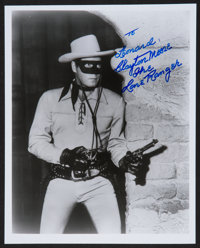 "The Lone Ranger Television Show (Colbert Television Sales, R-1970s). Autographed Photo (8"" X 10""). Western..."