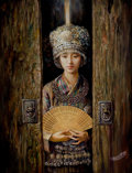 Asian:Chinese, CHINESE SCHOOL (20th Century). Young Bride. Oil on canvas.39 x 30 inches (99.1 x 76.2 cm). ...
