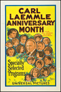 "Movie Posters:Miscellaneous, Carl Laemmle Anniversary Month (Universal, 1921). One Sheet (27"" X41"") Flat Folded. Miscellaneous.. ..."