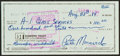 Basketball Collectibles:Others, 1984 Pete Maravich Signed Check....