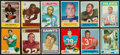 Football Cards:Sets, 1964 Through 1972 Topps and Philadelphia Football Partial Sets (9) With Many Stars. ...