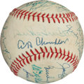 Autographs:Baseballs, Baseball Legends Multi Signed Baseball....