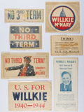 Books:Americana & American History, Group of Wendell Willkie Political Items. Wrapped in wax paper. Allvery good or better condition....