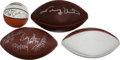 Miscellaneous Collectibles:General, Football and Basketball Signed Balls Lot of Four....