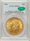 Liberty Double Eagles, 1904 $20 MS64+ PCGS. CAC. PCGS Population (30044/4215). NGC Census:(33187/6550). Mintage: 6,256,797. Numismedia Wsl. Price...
