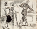 """Mainstream Illustration, JAMES MONTGOMERY FLAGG (American, 1877-1960). """"Get Out - I Don'tWant You!"""", Cosmopolitan magazine story illustration, 1..."""