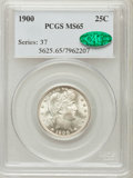 Barber Quarters: , 1900 25C MS65 PCGS. CAC. PCGS Population (36/15). NGC Census:(32/10). Mintage: 10,016,912. Numismedia Wsl. Price for probl...