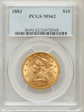Liberty Eagles: , 1883 $10 MS62 PCGS. PCGS Population (303/76). NGC Census:(447/103). Mintage: 208,740. Numismedia Wsl. Price for problemfr...