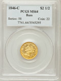 Liberty Quarter Eagles: , 1846-C $2 1/2 MS64 PCGS. PCGS Population (1/0). Mintage: 4,808.Numismedia Wsl. Price for problem free N...
