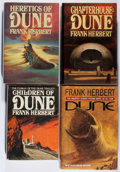 Books:Science Fiction & Fantasy, [Jerry Weist]. Frank Herbert. Group of Four Books, Three Being First Editions. 1976-1999. Near fine or better.... (Total: 4 Items)