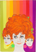 Pulp, Pulp-like, Digests, and Paperback Art, ROBERT PEAK (American, 1927-1992). Lucille Ball, TV Guidecover, July 15, 1967. Mixed media on board. 30 x 20 in..Signe...