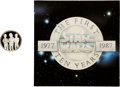 "Memorabilia:Science Fiction, Star Wars 10th Anniversary ""Mos Eisley Cantina Band"" Sterling Silver Limited Edition Coin #118 (Rarities/Lucasfilm Ltd., 1988)..."