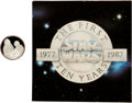 "Memorabilia:Science Fiction, Star Wars 10th Anniversary ""Han Solo and Chewbacca"" Sterling Silver Limited Edition Coin #221 (Rarities/Lucasfilm Ltd., 1988)...."