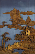 Asian:Japanese, An Asian Carved Wooden Panel. Unknown maker, Asian. Circa 1800.Carved wood. Unmarked. 42 inches high x 29 inches wide. ...