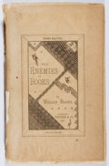 Books:Books about Books, William Blades. The Enemies of Books. Trubner, 1881. Third edition. Spine perished. Fair....